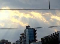 西日暮里駅・光のはしご.jpg